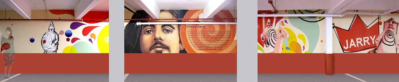 fresque Jarry Alfred